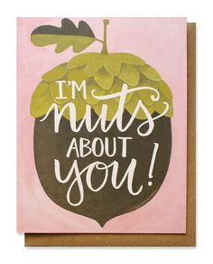 Mignon   nuts about you card