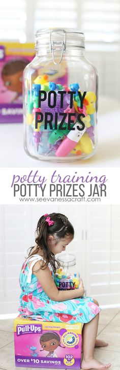 Potty Prizes Jar Tutorial and Easy Potty Training Tips for Parents #PottyPartner #ad