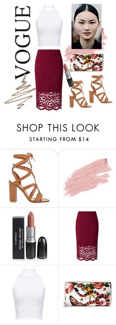 """Fashion 101: Summer Day to Night"" by josehline ❤ liked on Polyvore featuring Gianvito Rossi, Jane Iredale, Samsøe & Samsøe, WearAll, Gucci and Anastasia Beverly Hills"
