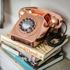 How chic is this rose gold phone? The push buttons update the rotary dial, while the gleaming copper hue mixes well with contemporary décor.