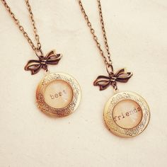 Set of Two Matching Best Friends Lockets von DearDelilahHandmade, $59.00