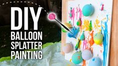 DIY Balloon Splatter Painting - HGTV Handmade