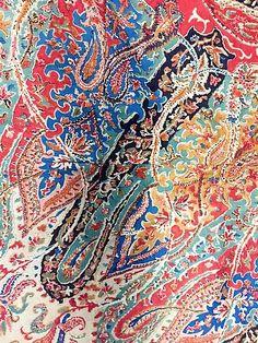 French vintage textile detail