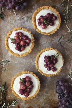 Roasted Grape and Rosemary Savory Goat Cheese Mini Tarts {Grain-Free} by Tasty Yummies, via Flickr