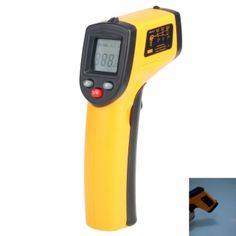 """BENETECH GM320 1.2"""" LCD Infrared Temperature Tester Thermometer -50℃ - 380℃ - Orange + Black"""