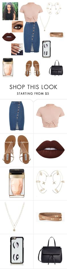 """""""Asymmetrical"""" by apollar2 ❤ liked on Polyvore featuring Madewell, Lime Crime, Cartier, Charlotte Russe, LC Lauren Conrad, Stella & Dot, Kate Spade and Mansur Gavriel"""