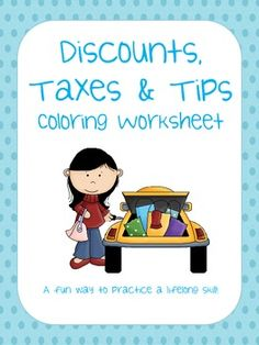 How to Calculate Tax, Tip and Sales Discount Cheat Sheet Freebie ...