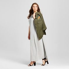 Women's Plus Size T-Shirt Maxi Dress - Who What Wear Gray 3X