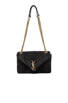 SAINT LAURENT Medium Monogram Slouchy Suede Chain Bag.  saintlaurent  bags   shoulder bags  lining  velvet  suede   11ab65798e21a