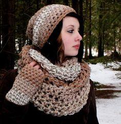 SET BEACH Rasta Love Cowl Hood Vegan scarf slouch por HookedWear