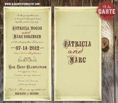Vintage Wedding Suite  Invitation and Mad Lib by alacartestudio, $30.00