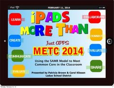 iPads More Than Just Apps-Using the SAMR Model to Meet Common Core by msedtechie via slideshare