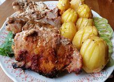 Nejchutnější maso s bramborami pečené vcelku - tajemství se skrývá v marinádě.   NejRecept.cz Pork, Meat, Kale Stir Fry, Pork Chops
