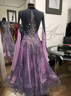 Latin Ballroom Dresses, Ballroom Dance Dresses, Ballroom Dancing, Ballroom Costumes, Dance Costume, Fantasy Dress, Dance Fashion, Dance Outfits, Beautiful Gowns