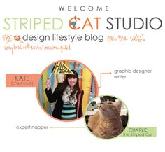 Hey there gorgeous! I'm Kate, the writer/designer/pretty-things-lover behind Striped Cat Studio. I love to write about the place where graphic design & lifestyle intersect and share things that make my eyes happy. I want to make your eyes happy too! http://stripedcatstudio.com