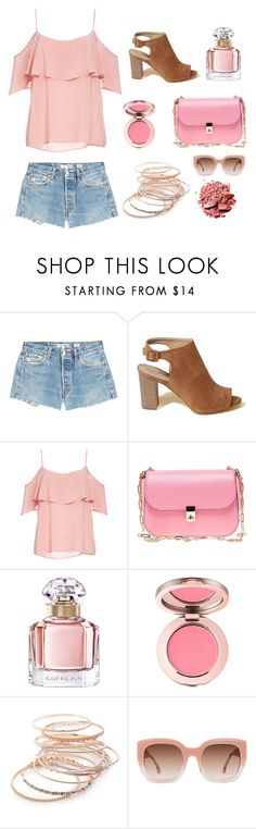 """""""Summer Booties"""" by lizdp ❤ liked on Polyvore featuring RE/DONE, Hollister Co., BB Dakota, Valentino, Guerlain, Red Camel and Alice + Olivia"""