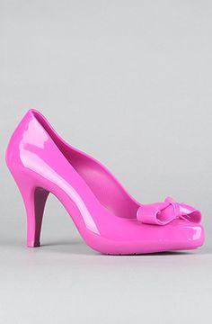 Melissa Shoes  The Talking II Shoe in Pink