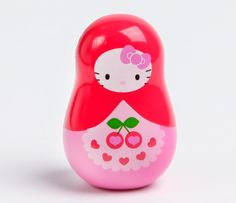 Hello Kitty Matrioshka Lip Gloss: Cherry....  So cute... it made me think of you,  @theqtestmommy