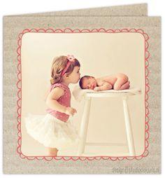 Studio Deksels • geboortekaartjes • foto • newborn shoot • ribbelkarton • kader
