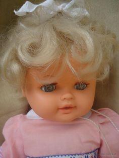 Preciosa muñeca de los 70s deditos antigua -etiqueta Jesmar 22 completa