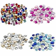 144 x 4mm Clear Diamante Stars Self Adhesive Rhinestone Craft Embellishment Gems