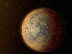 Een impressie van een aardeachtige planeet