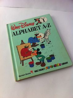 I still have the entire set my mom bought me as a kid! ALPHABET A-Z VOLUME 1 by Disney / 1980's Walt Disney Book / children book / Learning book / Alphabet book on Etsy, $6.00