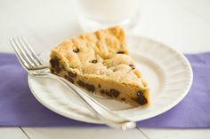 Chocolate Chip Cookie Cake | browneyedbaker.com #recipe