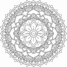 Flower Mandala Coloring Pages #20