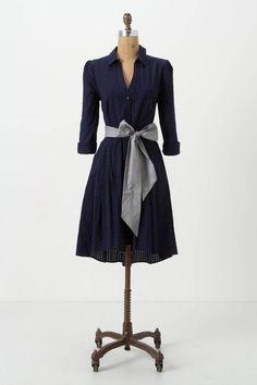 Moulinette Soeurs navy cotton Dakota Shirtdress #Anthropologie