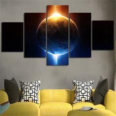 2016 Unframed Home Decoratie Muurschildering Licht ToThe Aarde 5 Planes Canvas Schildert Gedrukt Art Pictures Voor Woonkamer Alie Express