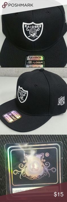 Raiders NFL black hat Brand new Raiders NFL hat, Leader of generation apparel L.O.G.A EXELLENT QUALITY Snapback hat. Leader of generation apparel  Accessories Hats