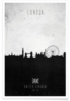London Contemporary Cityscape as Premium Poster by Calm The Ham | JUNIQE