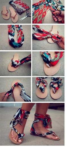 DIY scarf sandals. these are happening, asap!