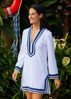 Striped Terry Tunic | Women's | Cabana Life Sun Protective Clothing