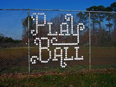 if you were having a party at a ball field, this is an awesome display...made with paper cups?