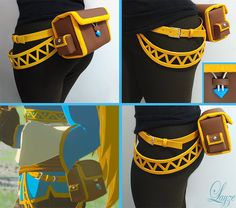 Find more on my Facebook page! ---- I had to stop playing a few times to work on my Zelda cosplay and I'm here today to show you Zelda's Pouch and her yellow belts that I finished today...