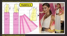 ModelistA: ESTILO GREGO Deep V-Neck Gown