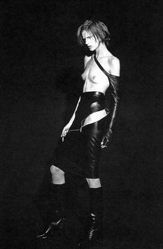 Stella Tennant in Ann Demeulemeester photographed by Peter Lindbergh 2009
