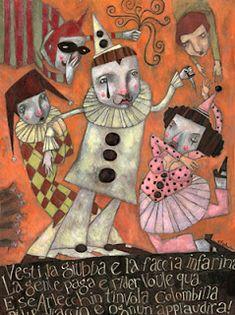 make*break : portfolio of Ofra Amit Haunted Circus, Clown Paintings, Art Alevel, Circus Art, Illustrations, Cute Illustration, Altered Art, Creative Art, Folk Art