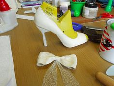 Shoes in progress during our 10 day course 'Mastering Footwear' - http://icanmakeshoes.com/courses/