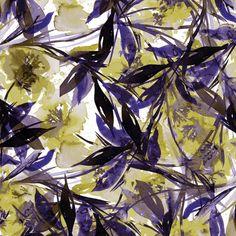 """Floral Fiesta - Yellow & Violet"" By Artist Julia Di Sano, Owner/ Artist of Ebi Emporium, Available now on iCanvas #artprint #canvas #colorful #EbiEmporium @icanvasart #iCanvas #JuliaDiSano #wallart #decor"