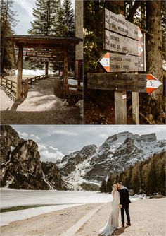 Erika & Nathan's elopement at Lago di Braies in the Dolomites was an enchanting day. The lake was frozen which added to the beauty of the day Elope Wedding, Italy Wedding, Wedding Shoot, Intimate Weddings, Destination Weddings, Mountain Elopement, Elopement Inspiration, Northern Italy, His Travel