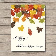 PRINTABLE  Happy Thanksgiving  Holiday Wall Art by PrettyPrintShop, $4.95