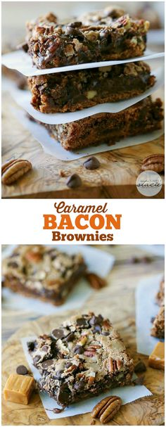 Caramel Bacon Browni