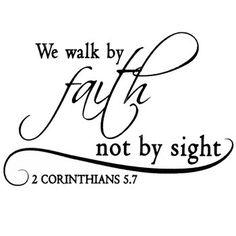 We Walk By Faith Vinyl Wall Quote | Hobby Lobby
