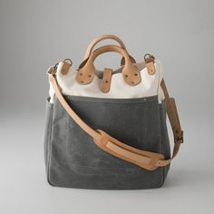 Waxed Canvas Utility Bag / Schoolhouse Electric & Supply Co.