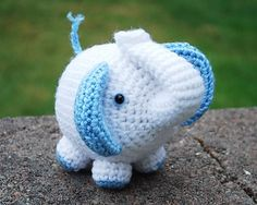 Handmade Crochet Purple Elephant Stuffed Toy Made To Order