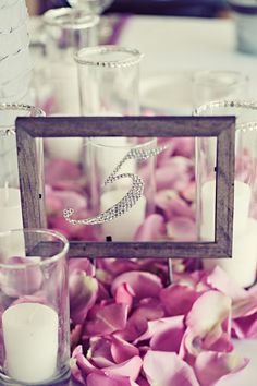 modern vintage wedding decor and table numbers