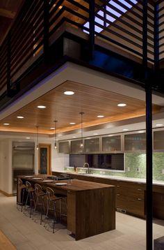 Beautiful modern kitchen design for the loft or small condo designs room design The Loft, Wood House Design, Glass House Design, Modern Kitchen Design, Interior Design Kitchen, Modern Kitchens, Interior Modern, Kitchen Designs, Interior Architecture